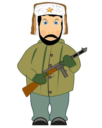 Vector illustration of the soldier of the great domestic Illustration