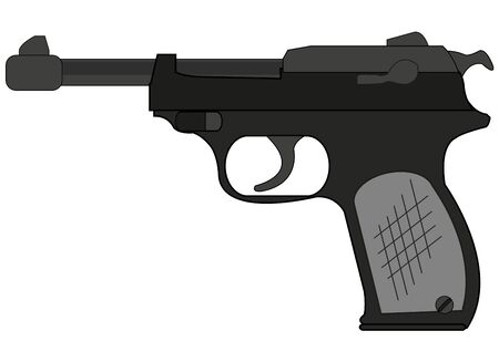 German gun walther on white background is insulated