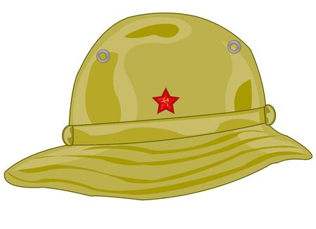 Headdress panama soldier to soviet army in the south