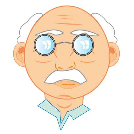 Vector illustration of the person elderly men 일러스트