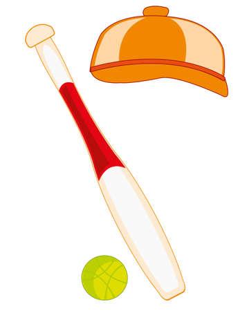 Baseball bit with ball and headdress cap