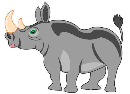 African animal rhinoceros type from the side