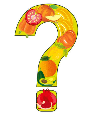 Decorative sign question from fruit and vegetables