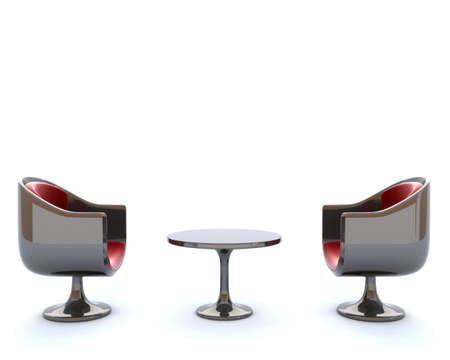 Futuristic chairs Фото со стока