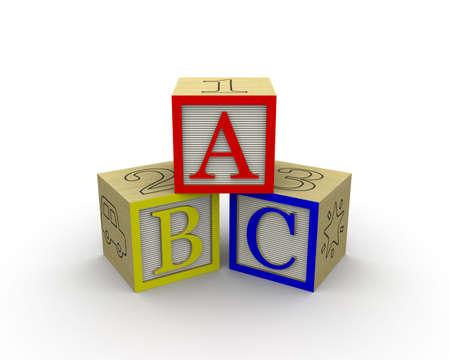 ABC Blocks together Фото со стока