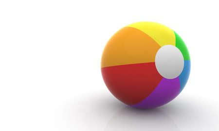 Colored beach ball