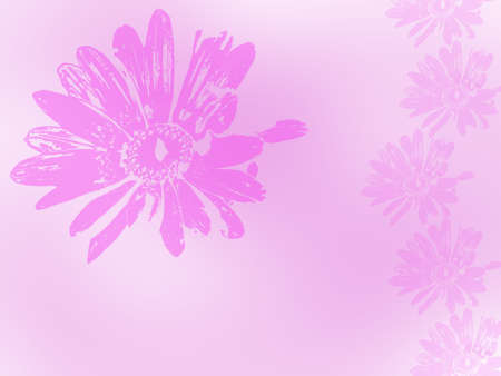 poetical: Pink romantic valentine cards with flowers on gradient background Stock Photo