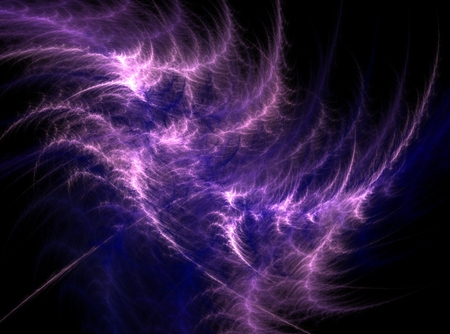 Purple abstract fractal effect light design background photo