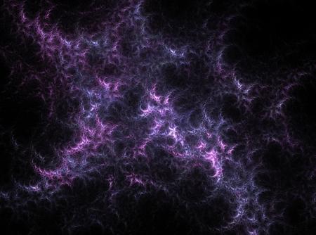 Purple beatiful nebula abstract fractal effect light design background photo