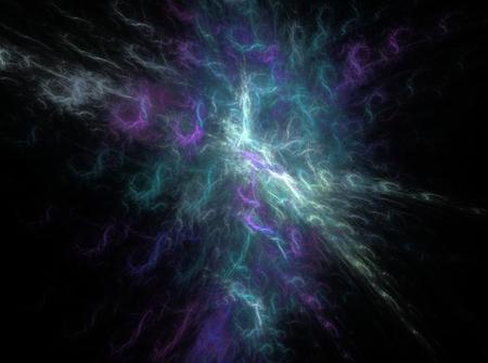 Green bright abstract fractal effect light design background