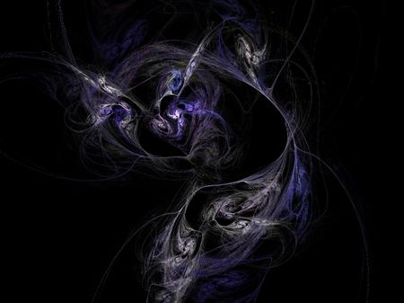 Violet ink lines abstract fractal effect light design background photo