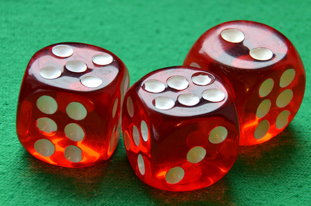gamble: Gamble dices on green table