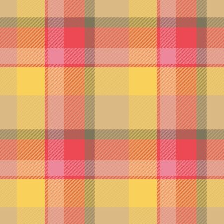 fab: Orange, red seamless tartan cloth pattern textures