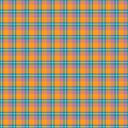 Orange, green seamless tartan cloth pattern textures photo