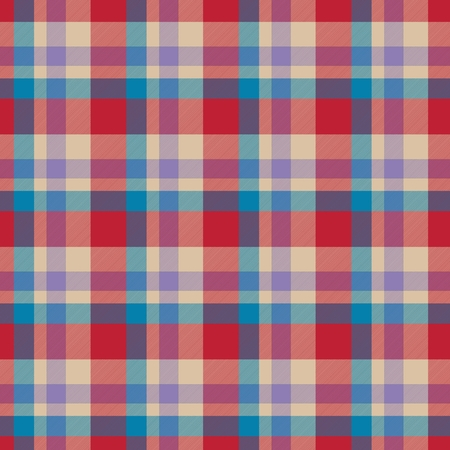 fab: Red, blue, beige seamless tartan cloth pattern textures Stock Photo