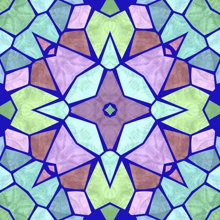 kaleidoscopic: Beautiful seamless color kaleidoscope background Stock Photo
