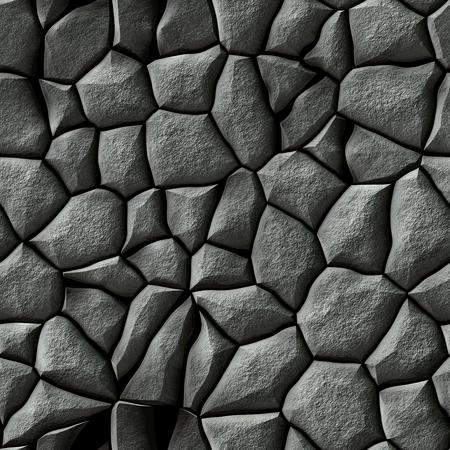 cobble: Seamless texture of gray cobble stone pattern Stock Photo