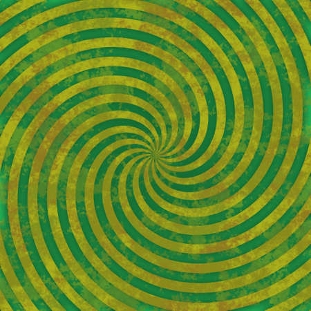 holey: Yellow swirl on green background pattern