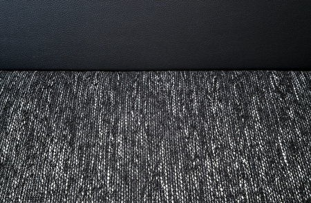 Detail of part of black and white cloth sofa photo