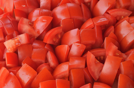 Tomates picados piezas patrón de textura