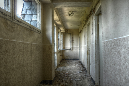 hdr: Old interior of socialistic hotel urbex HDR