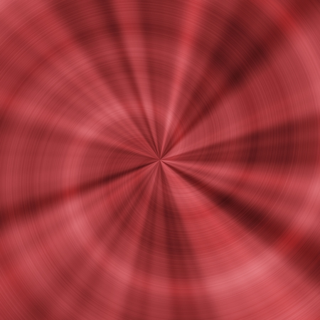 radial: Generated red metal radial texture pattern