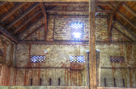 hdr: Old country barn interior HDR