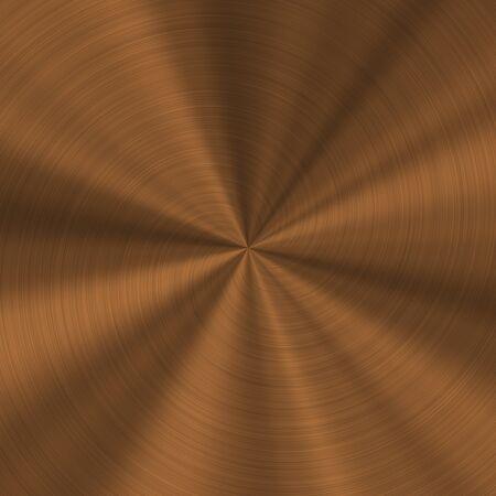 industrial sheet iron: Generated bronze metal radial texture pattern