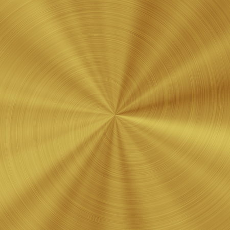 radial: Generated golden metal radial texture pattern