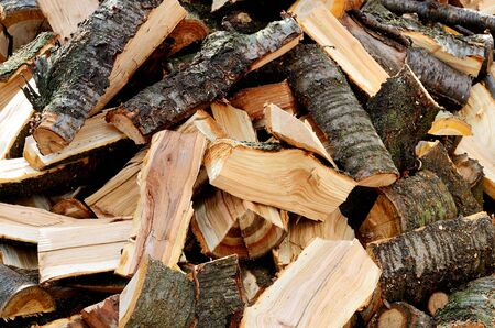 hardwood: Heap of hardwood firewood