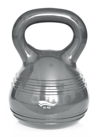 calisthenics: Isolated modern design kettlebell - 10kg on white background