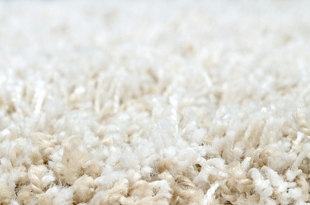 shaggy: Close-up detail of white shaggy carpet