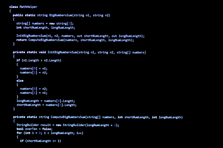 syntax: Programming code written in C language syntax