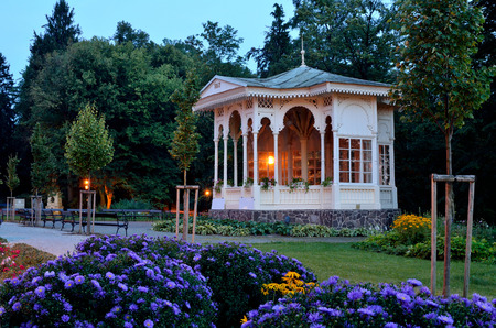 Spa gazebo from the mid 19th century in the Priessnitz Spa Jesenik Stock Photo
