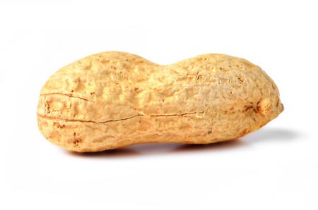 Unpeeled raw peanut isolated on white background Imagens - 123631275
