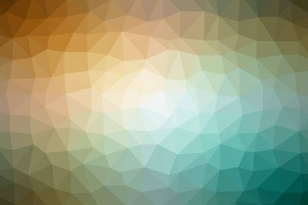 Abstract background created by colorful triangles. Illustration.