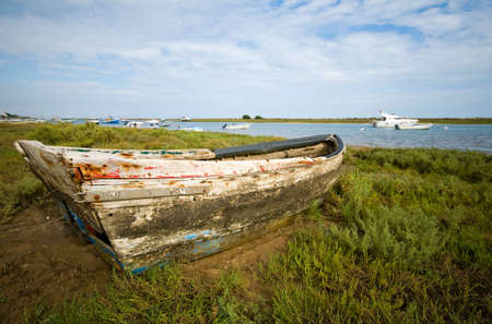 Small fishing boat at Cabanas de Tavira, Portugal. photo