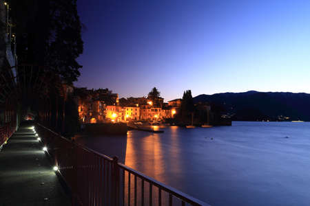 Como Lake (Varenna), walking at night photo
