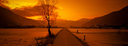 Sunset on the Alps (Valtellina - Italy) photo