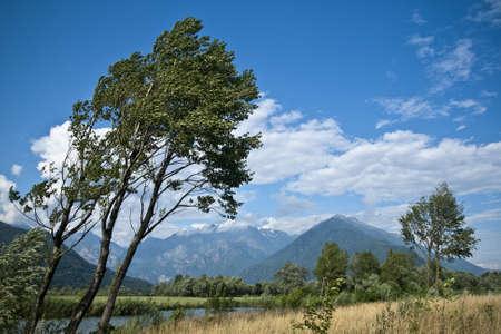 mountin: Pian di Spagna oasis Stock Photo