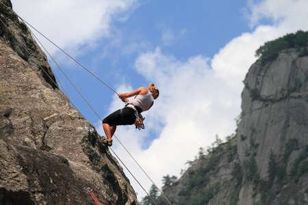 bouldering: Boulder, escursioni & arrampicate  Archivio Fotografico