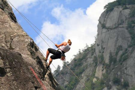 mountain climber: Boulder, escursioni & arrampicate  Archivio Fotografico