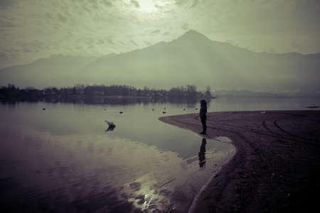 Lago di Como al tramonto