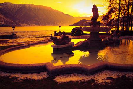 Tremezzo at Sunset - Como Lake Standard-Bild