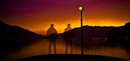 Man & Sunset photo
