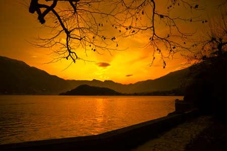 Sunset Standard-Bild
