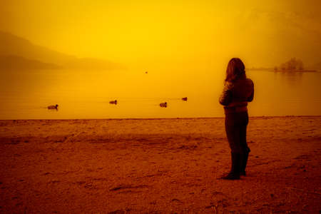 Woman & sunset Stock Photo - 10558096