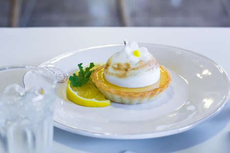lemon cake: Lemon cake  focus cake
