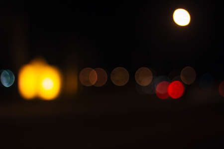 a blurred image of night lights Stock Photo