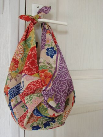 Furoshiki (cloth wrapper) bag Stock Photo
